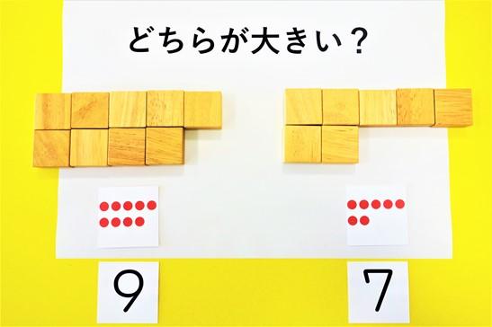 視覚化した数の比較指導